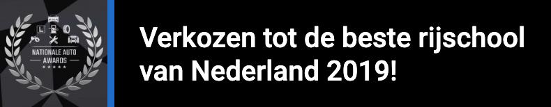 Verkozen tot de beste rijschool van Nederland